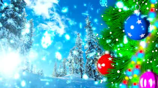 Christmas loopable background with nice balls