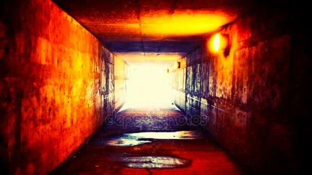 Scary Horror Corridor Abstract Background Stock Video