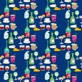 Vzor bezešvé s koktejlové nápoje