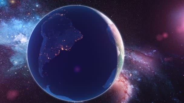 Realistické planety země z vesmíru
