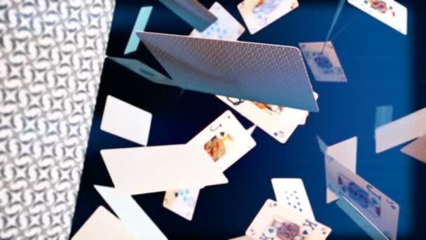 Vysoce kvalitní animace létání hrací karty