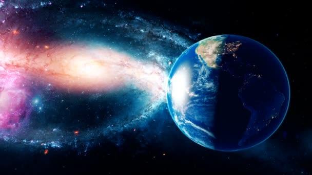 Realistické krásné planety země z vesmíru