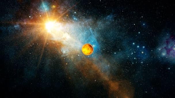 Realistické krásná planeta Venuše z hlubokého vesmíru