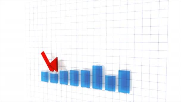 4 k finanční infografiky animace