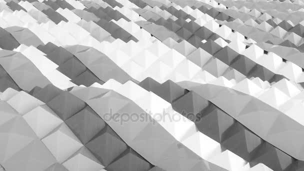 Animace z bílé vlny. Smyčka vzorek pozadí.