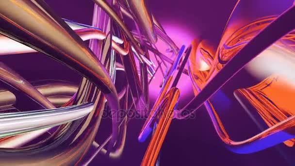 Abstraktní plynoucí barevné linie. Loopable