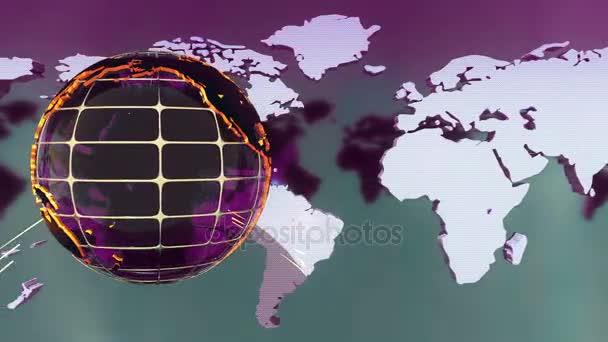 Krásné vysílání zpravodajství fialové pozadí. Loopable