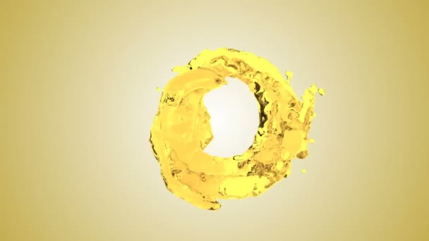 Úvodní žlutou vodu s bublinkami vzduchu s bílým pozadím