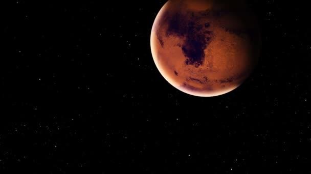 Realistické planety Mars s meteority z hlubokého vesmíru