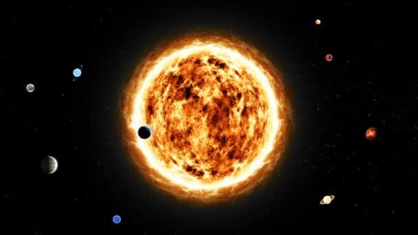 Abstraktní planety slunce z vesmíru