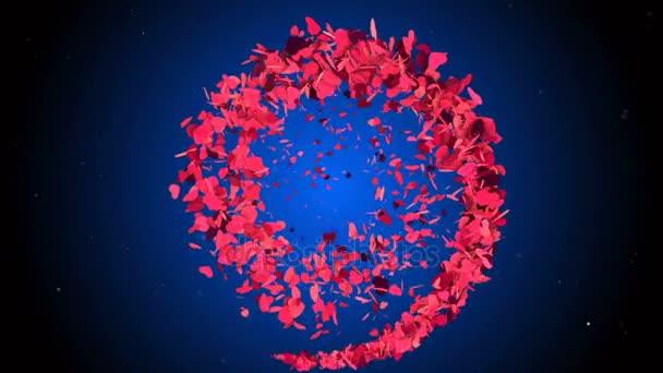 Romantické pozadí abstraktní s létáním Purpurová srdce