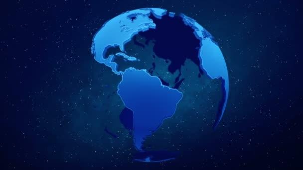 Planeta Země na pozadí hvězd. Opakování.