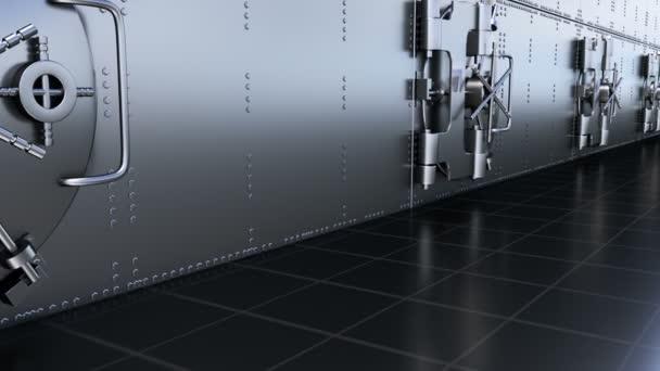 Sichere Türen der Banktresor. Geschlungen