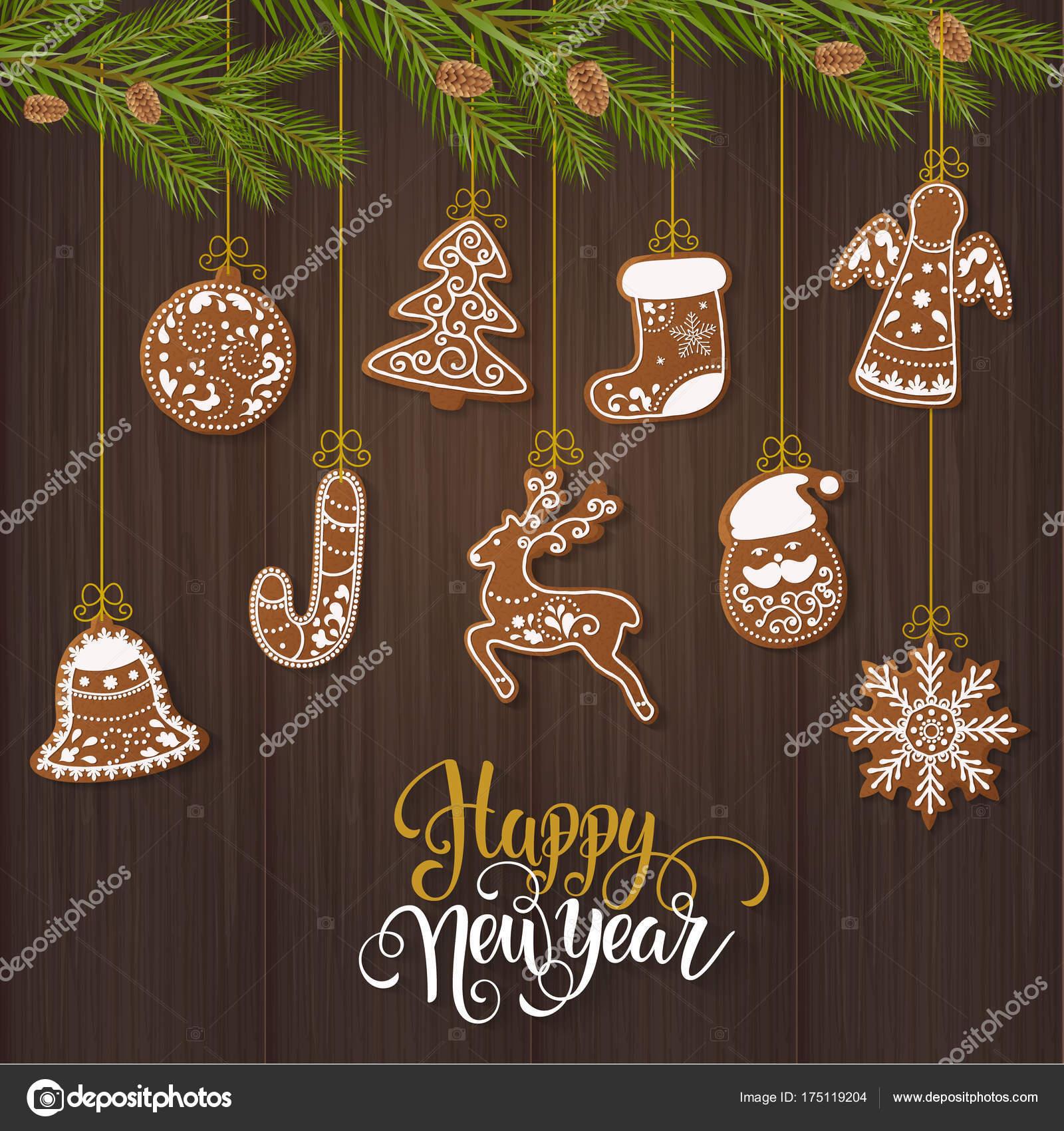 Biscotti Decorati Per Albero Di Natale.Insieme Natale Pan Zenzero Biscotti Decorati Albero Natale Fiocchi