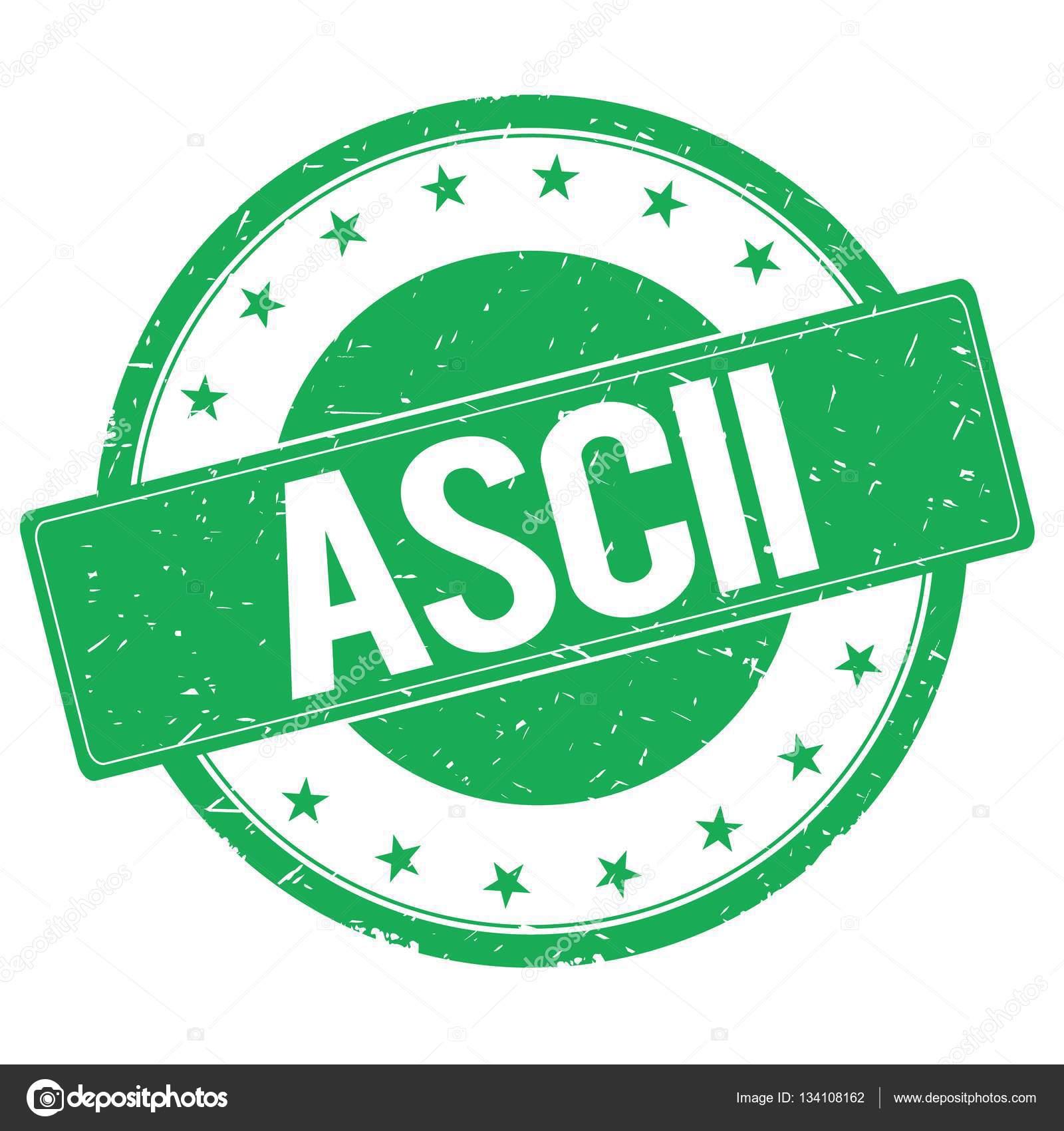 Ascii Stamp Sign Green Stock Photo Ionutparvu 134108162