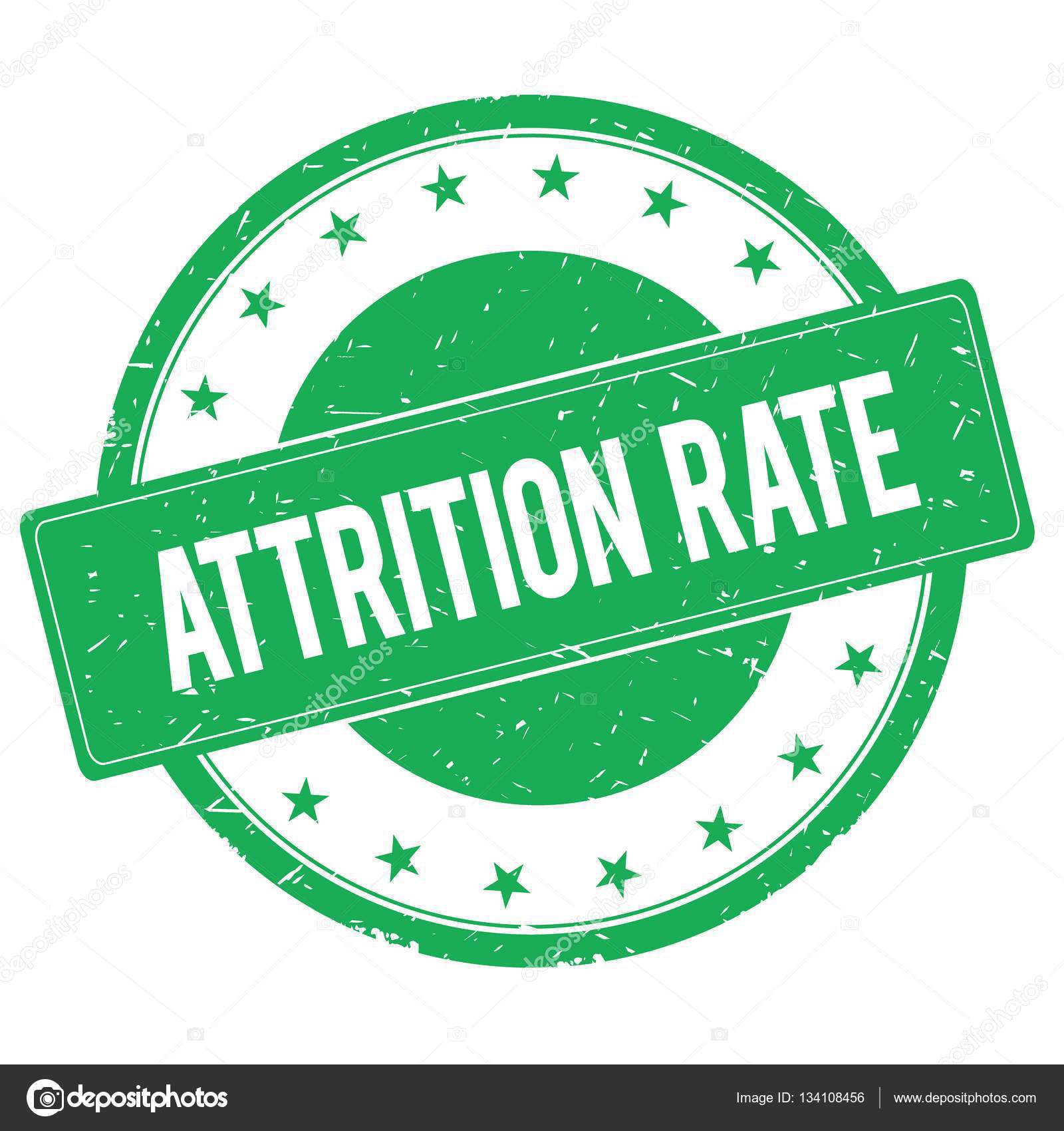 ATTRITION RATE stamp sign green — Stock Photo © ionutparvu
