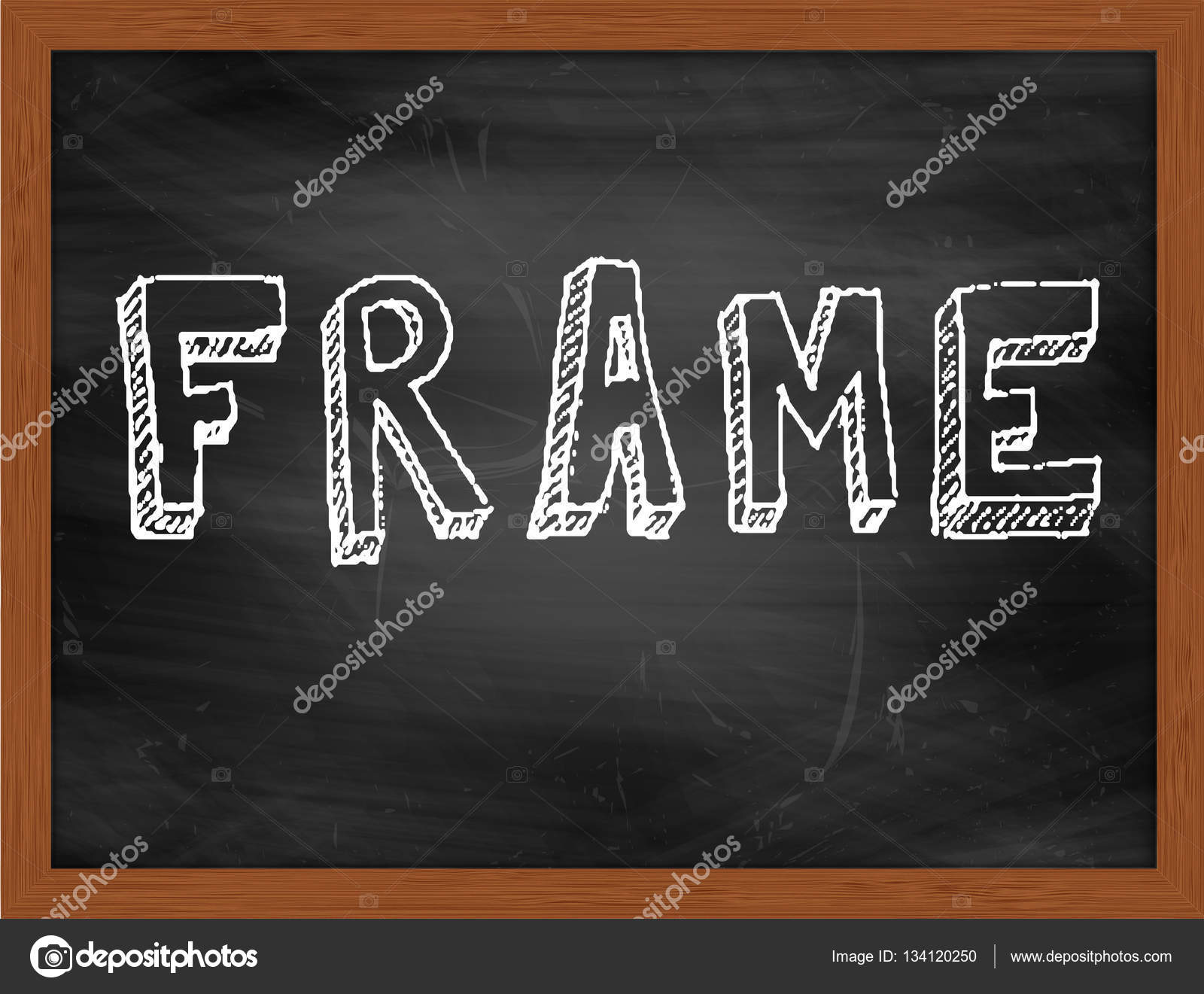 Mano de marco escribir texto en la pizarra negra — Fotos de Stock ...