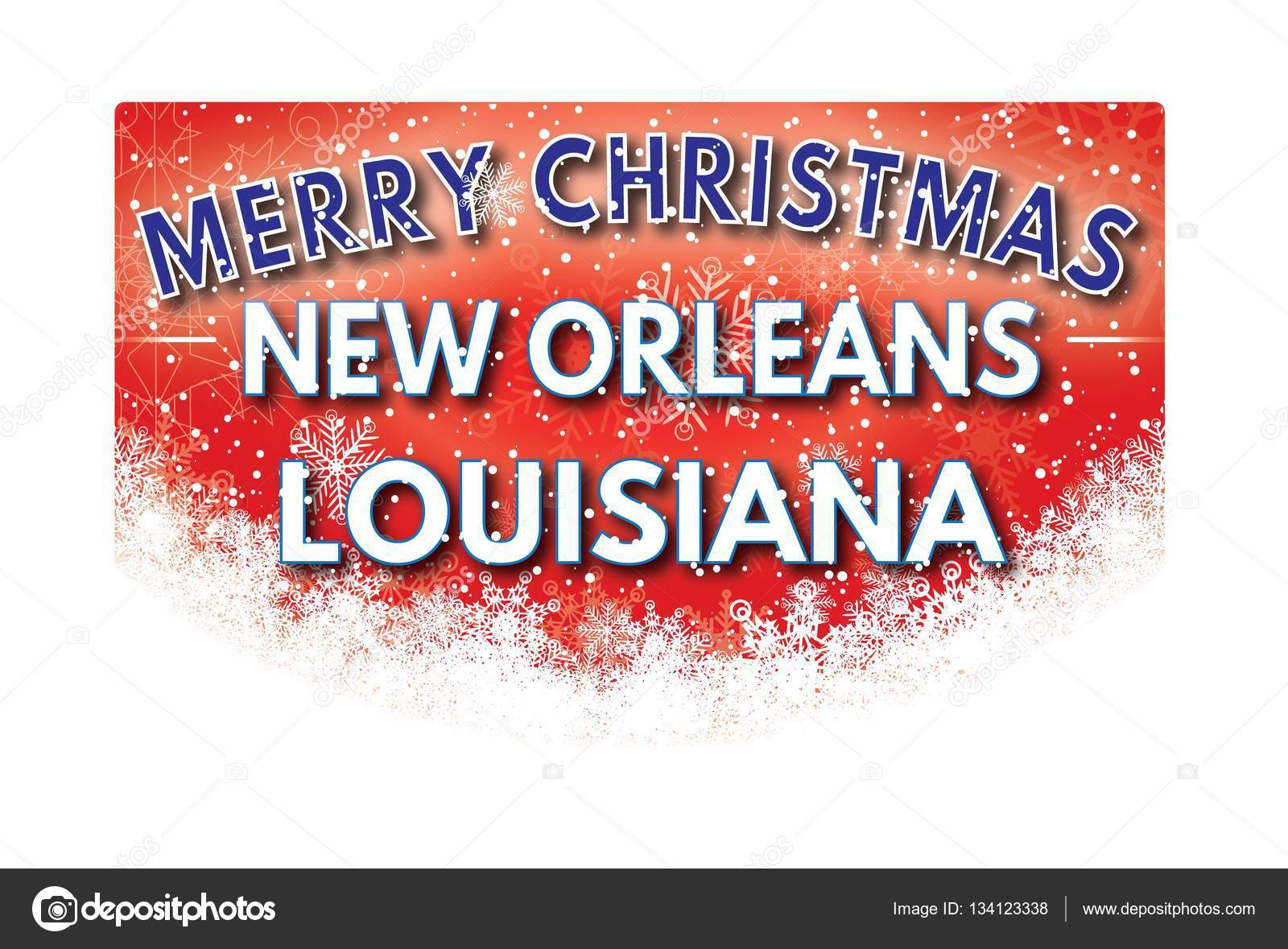 NEW ORLEANS LOUISIANA Merry Christmas greeting card — Stock Photo ...