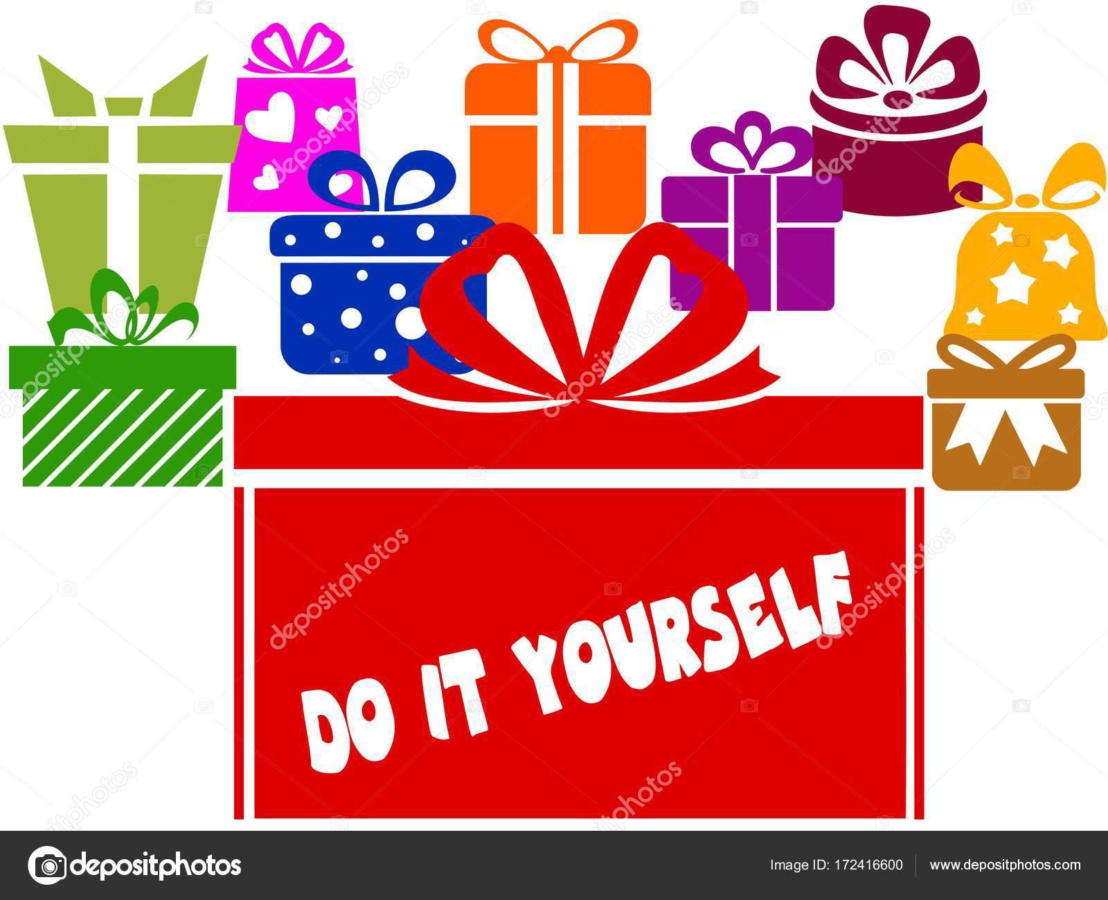 Cajas de regalo con el texto do it yourself fotos de stock cajas de regalo con el texto do it yourself fotos de stock solutioingenieria Image collections