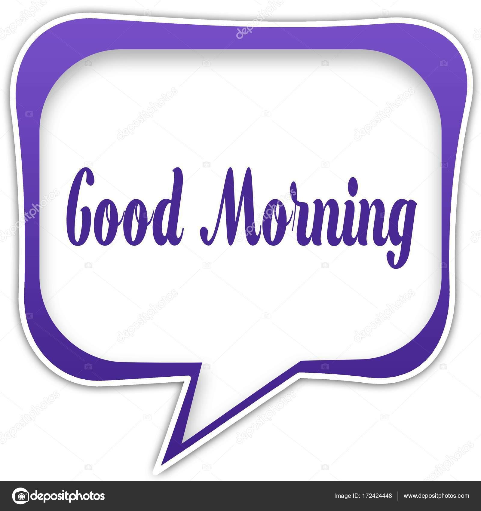 Violette Quadratische Sprechblase Mit Guten Morgen Sms