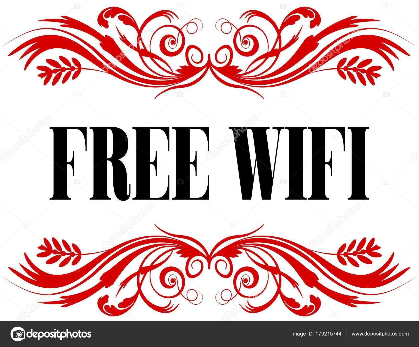 Libre Wifi marco de texto floral rojo — Foto de stock © ionutparvu ...
