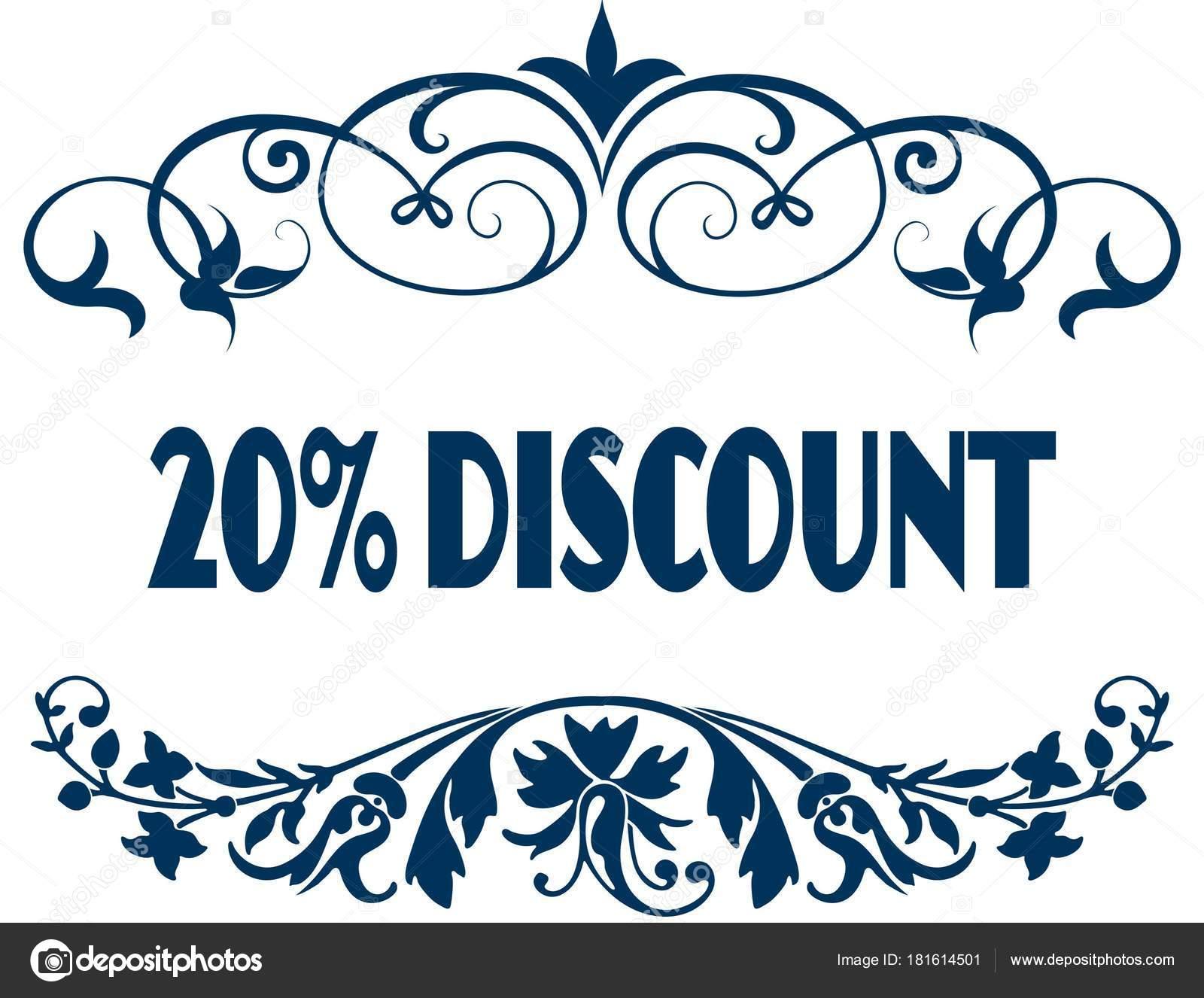 20% descuento azul marcos — Fotos de Stock © ionutparvu #181614501