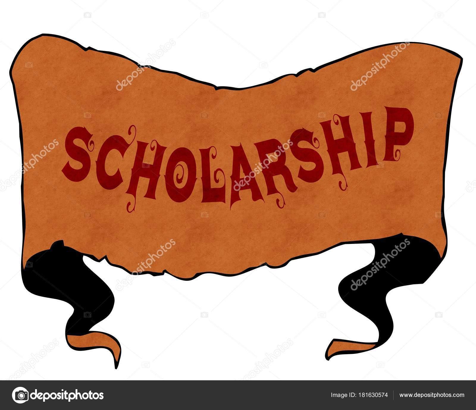 Scholarship Written With Vintage Font On Cartoon Vintage Ribbon Stock Photo C Ionutparvu 181630574