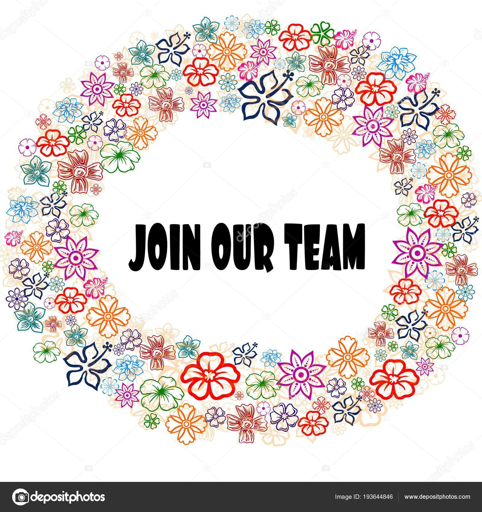 JOIN OUR TEAM in floral frame. — Stock Photo © ionutparvu #193644846