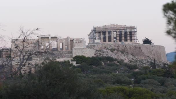 Acropolis Front View Time Lapse