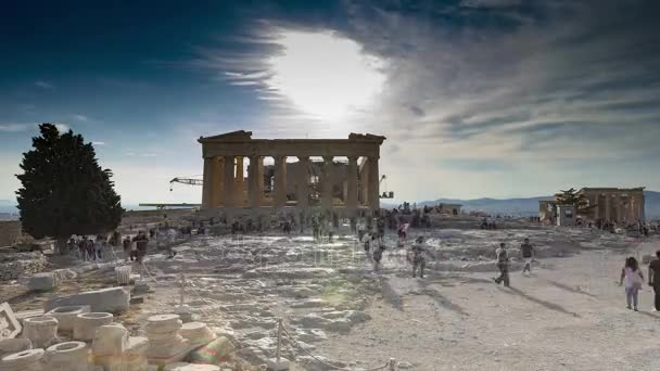 acropolis of athens time lapse