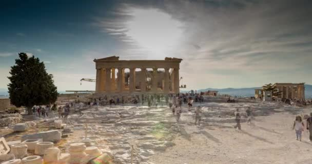 acropolis of athens time lapse from inside
