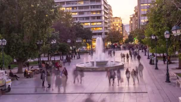 4k time lapse at syntagma square