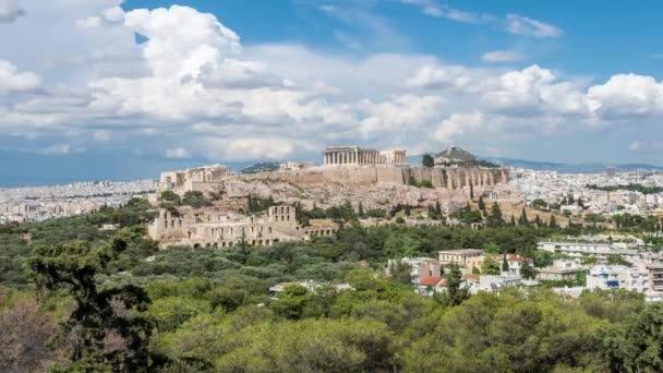 denní Akropole časová prodleva s nad mraky