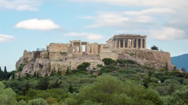 daytime acropolis time lapse from pnika hill