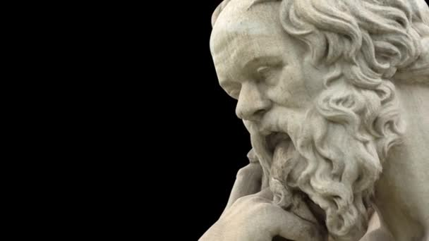 Close up of ancient Greek philosopher Socrates statue