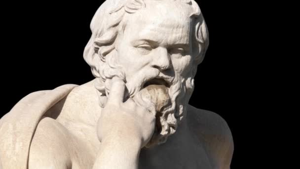 classic statue of Greek philosopher Socrates sitting