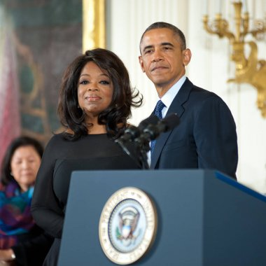 Oprah Winfrey and President Barack Obama