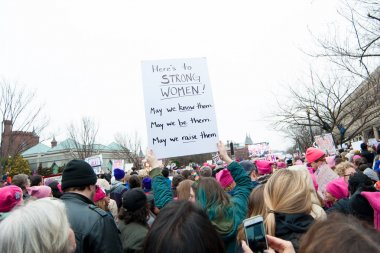 Anti-Trump Sign at Rally