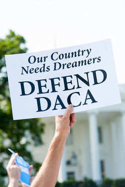 Protesting the end of DACA