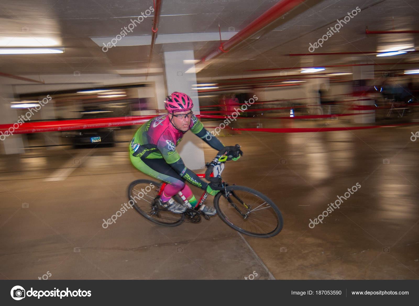 Cyclist Races Underground Crosshairs Garage Race March 2018
