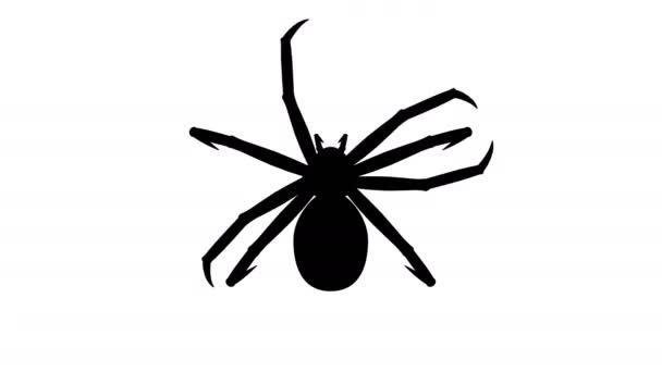 Spinnenschädling in verbotenen Zeichen, cg-Animation