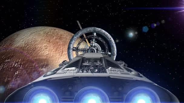 Vesmírných lodí na pozadí Pluta