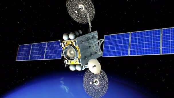 Sci-fi space laser weapon in orbit of Neptune