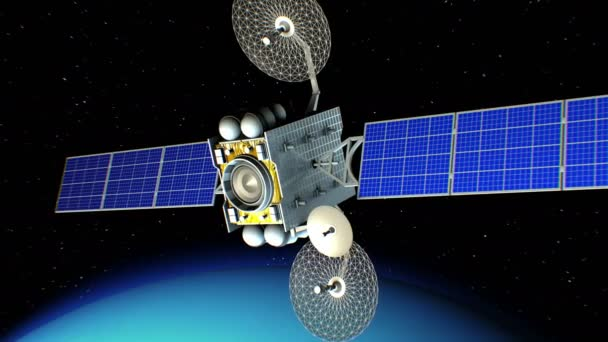 Sci-fi space laser weapon in orbit of Uranus