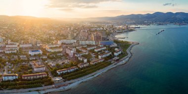 Panoramic aerial view of Novorossiysk, Russia