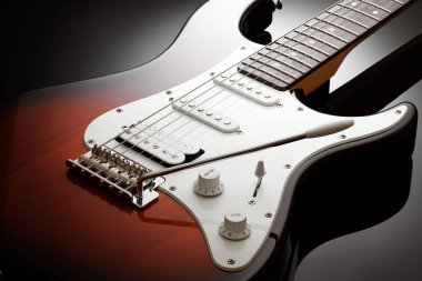 Body of the electric guitar