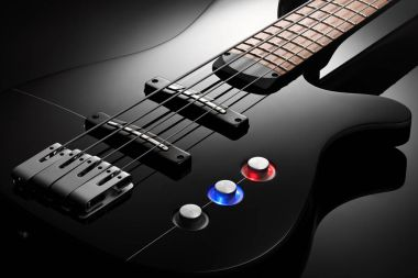Body of the electric bass guitar