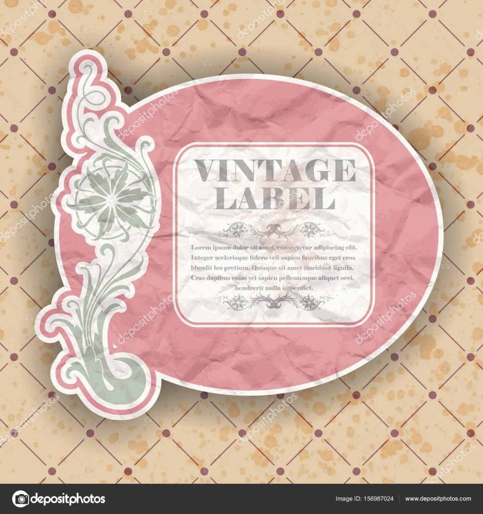 Vintage Label Template Stock Vector Konahinab 156987024