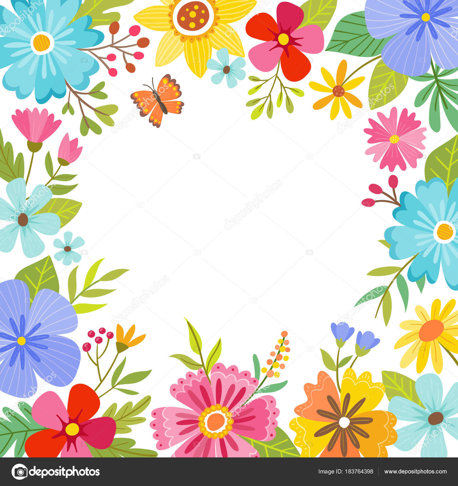 Cute Colorful Spring Floral Background Stock Vector C Insemar