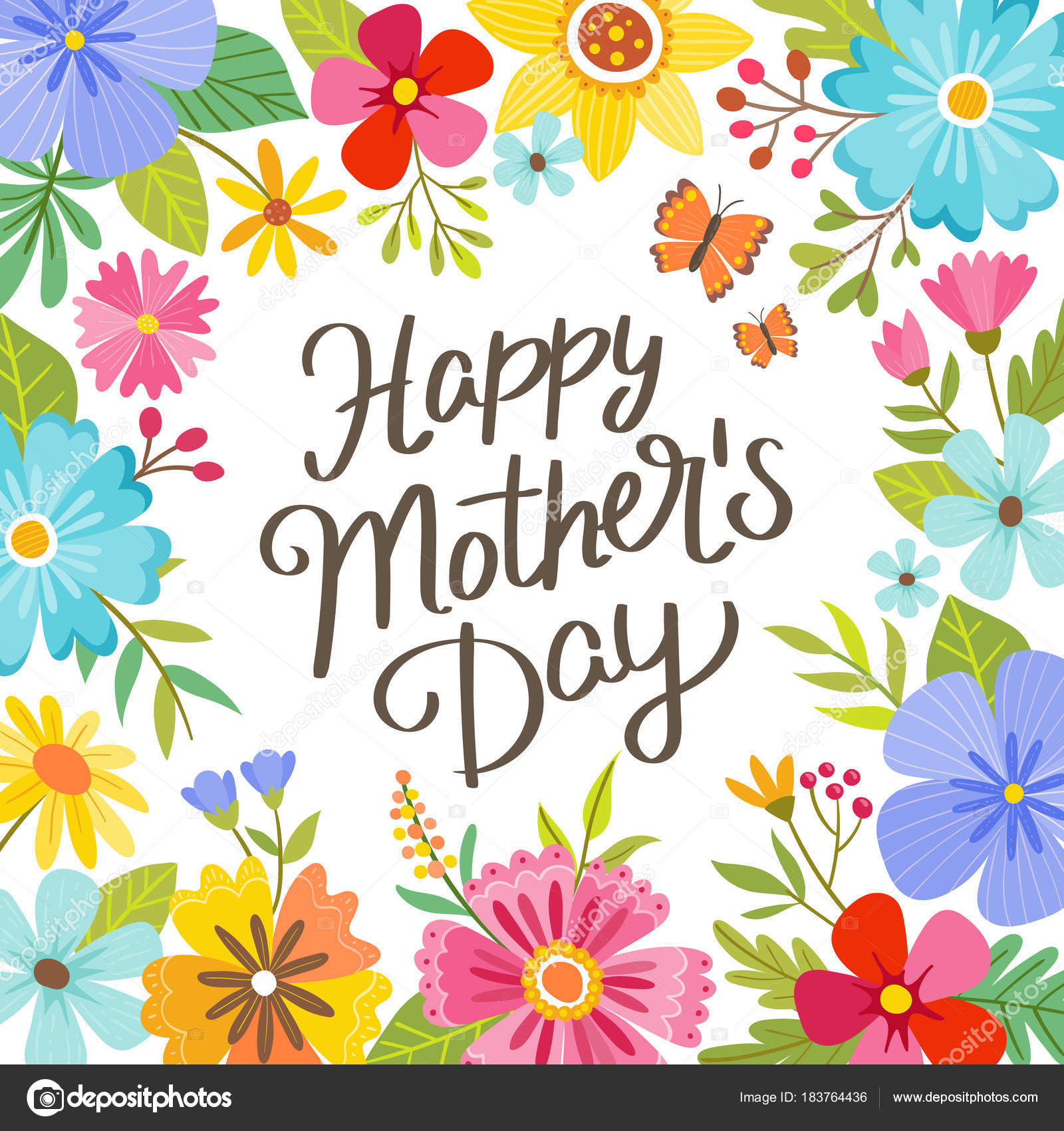 cute mother s day greeting card stock vector insemar 183764436